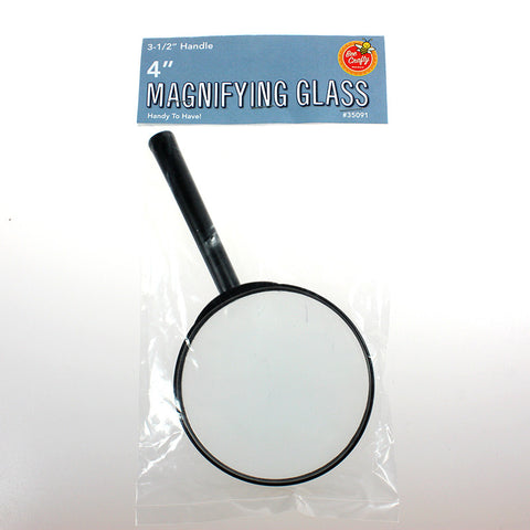 "4"" Magnifying Glasses ($5.99 retail, $2.50 cost x 30 per case)"