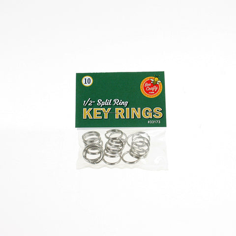 "1/2"" Split Ring Key Rings ($1.00 wholesale x 24 per case)"