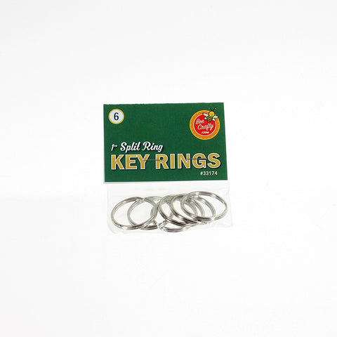 "1"" Split Ring Key Rings ($1.00 wholesale x 24 per case)"