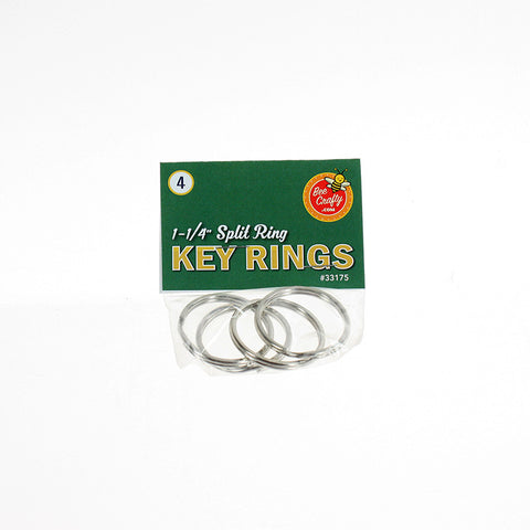 "1-1/4"" Split Ring Key Rings ($1.00 wholesale x 24 per case)"