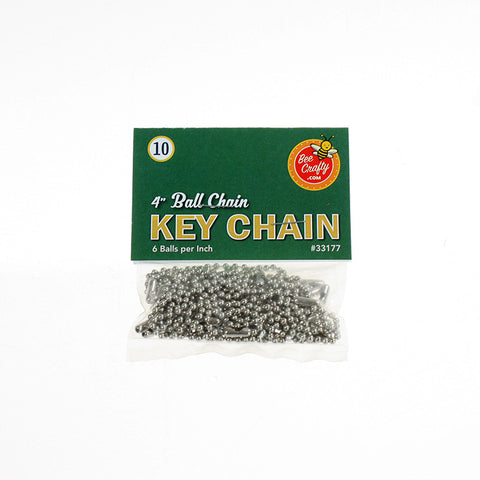 "4"" Ball Chain Key Chain ($1.00 wholesale x 24 per case)"