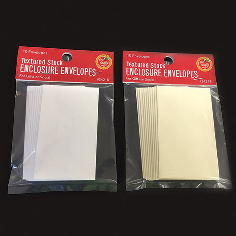 "2-1/4"" x 3-3/4"" Textured Envelopes ($2.79 retail, $1.35 cost x 36 per case)"