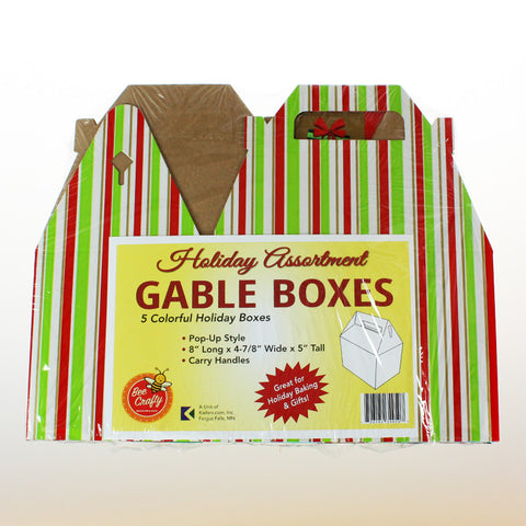Holiday Gable Box Assortment ($2.00 cost x 20 per case) 5 boxes per pack