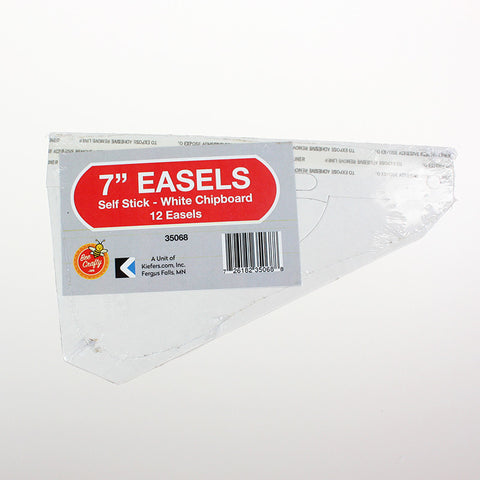 "7"" Self Stick Easel ($4.49 retail, $2.00 cost x 12 per case)"