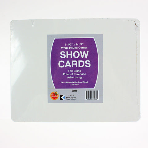 Rounded Show Card ($4.49 retail, $2.25 cost x 12 per case)
