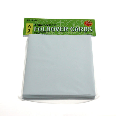 A-2 Announcement Fold-Over Cards ($3.99 retail, $2.00 cost x 24 per case)