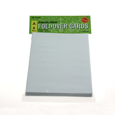 A-6 Announcement Fold-Over Cards ($4.59 retail, 2.40 cost x 24 per case)