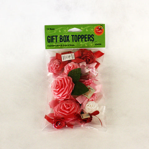 Gift Box Toppers ($2.99 retail, $1.50 cost x 24 per case)