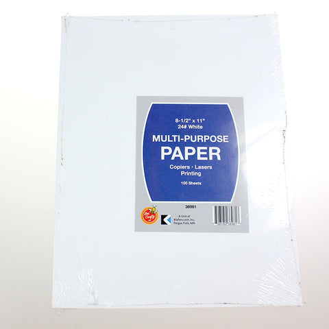 "8-1/2"" x 11"" Multi-Purpose Paper ($3.49 retail, $1.75 cost x 20 per case)"