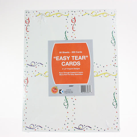 "3"" x 5""  Post / Recipe Cards ($4.99 retail, $2.50 cost x 20 packs per case)"