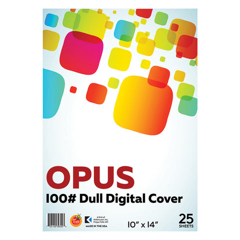 "10"" x 14"" Opus 100# Dull Digital Cover ($5.95 retail, $3.00 cost x 12 per case)"