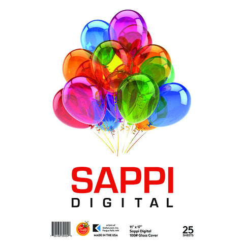"11"" x 17"" Sappi Digital 100# White Cover ($8.99 retail, $4.50 cost x 6 per case)"