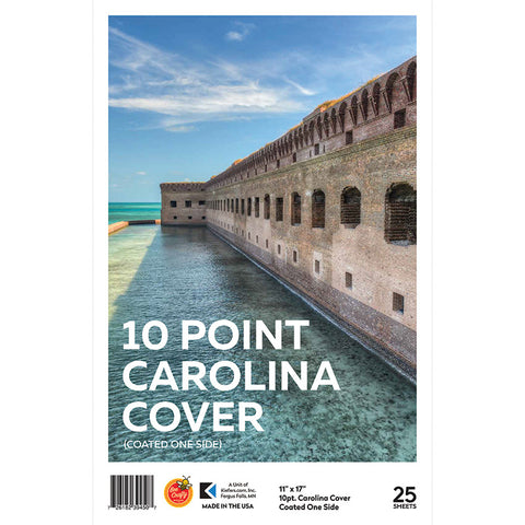 "11"" x 17"" 10 Point Carolina Cover ($8.99 retail, $4.50 cost x 6 per case)"