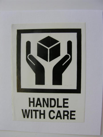"""Handle With Care"" Label - (Box of 2 Rolls)"