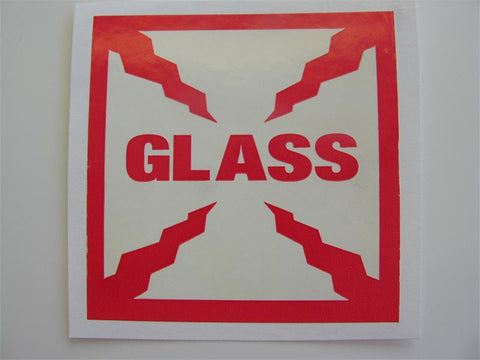 """GLASS"" Label - (Box of 2 Rolls)"