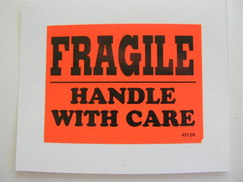 """Fragile-Handle With Care"" Label - (Box of 2 Rolls)"