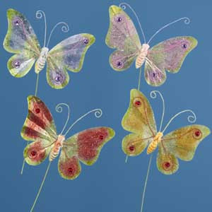 "6"" Metal Decorative Butterfly Stakes ($2.98 retail, $1.00 cost x 24)"