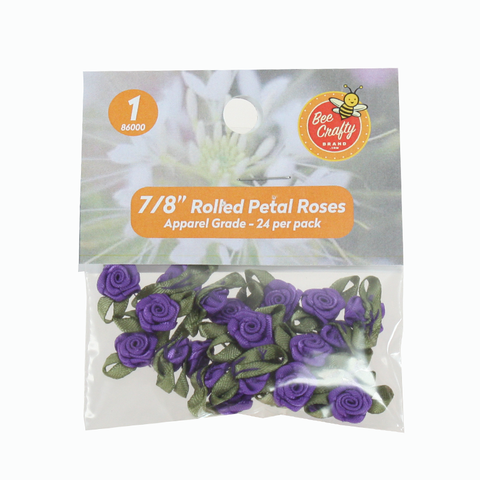 "3/4"" Rolled Petal Roses  ($1.99 retail, $1.00 cost) Asst & Solid"