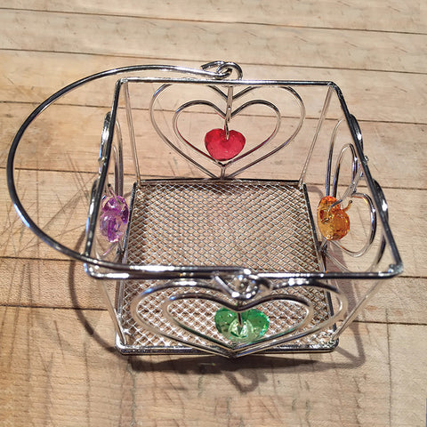"Jeweled Basket 3"" ($0.75 cost x 24 per case)"