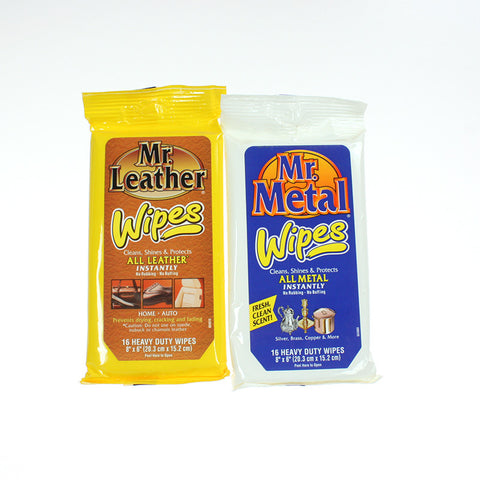 Mr. Metal & Mr. Leather Wipes