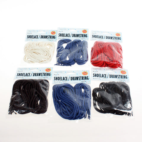 "42"" to 48"" Round Laces & Drawstrings ($3.49 retail $1.50 cost x 24 per case)"