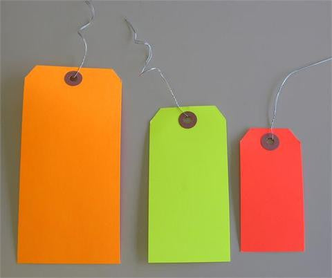 Hi-Vis Blank Lot Tags (Box of 1000) 3 colors