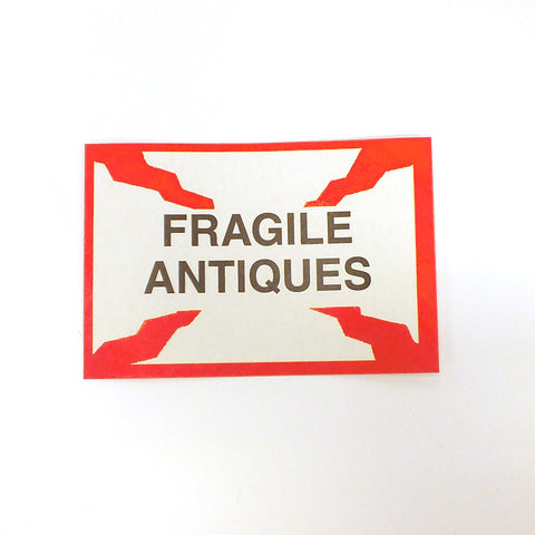 Fragile Antiques Self Adhesize Label (Pack of 50)