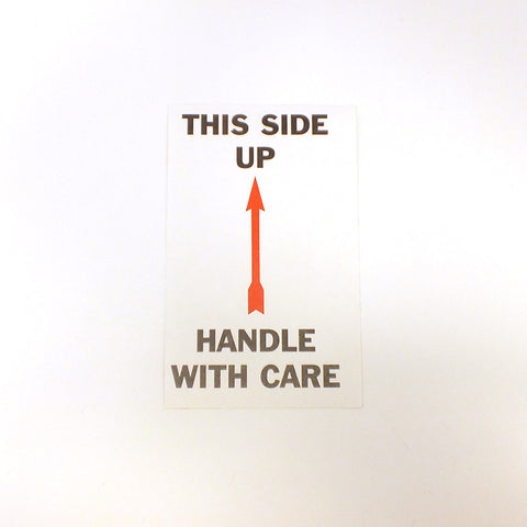 Handle w/ Care Self Adhesize Label (Pack of 50)