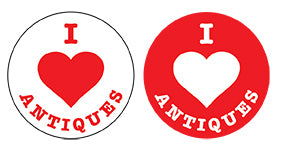 I Love Antiques Promotional Stickers (Box of 250)