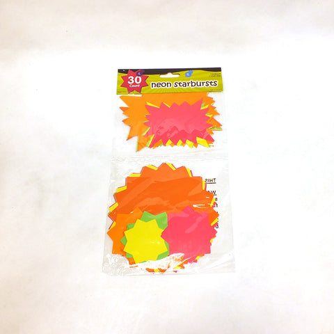 Neon Starbursts (Pack of 30)