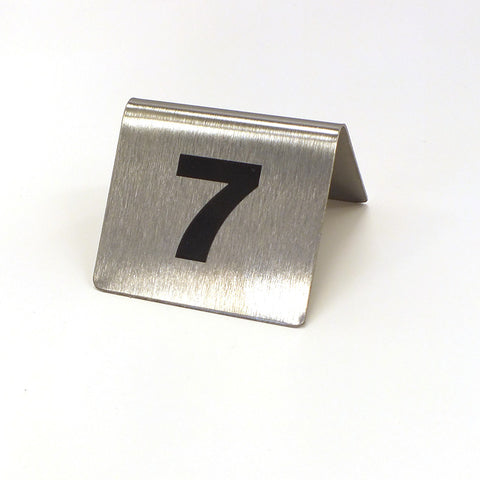 Metal Table Number Tents, #1-25