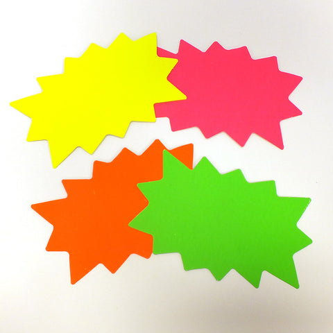 Fluorescent Starburst Show Card (Pack of 100)