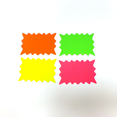 Fluorescent Rectangle Starburst Show Card (Pack of 100)