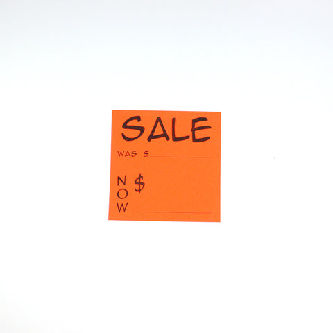 Fluorescent Red Sales Slips (3 Sizes)