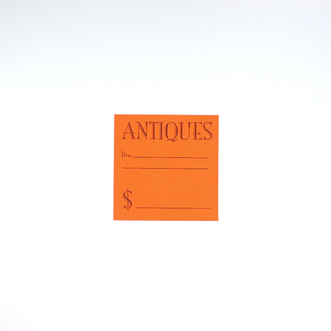 Fluorescent Red Antiques Slips (3 Sizes)