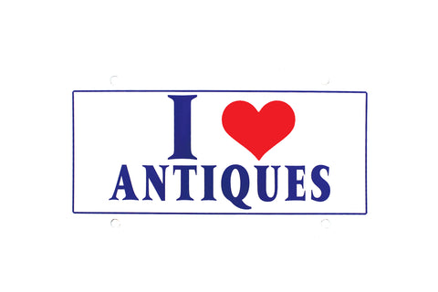 I Love Antiques License Plate