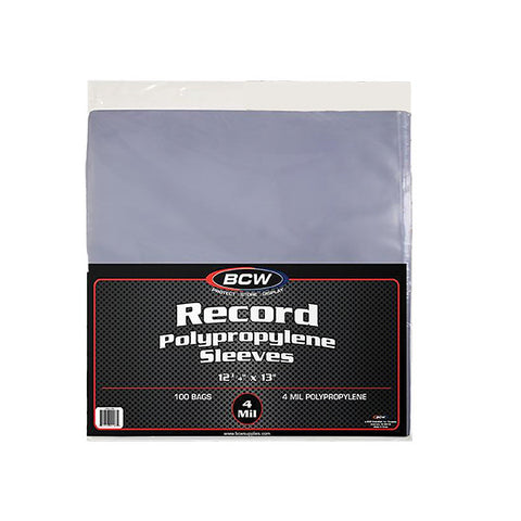 33 RPM Record Poly Sleeves (Pack of 100)