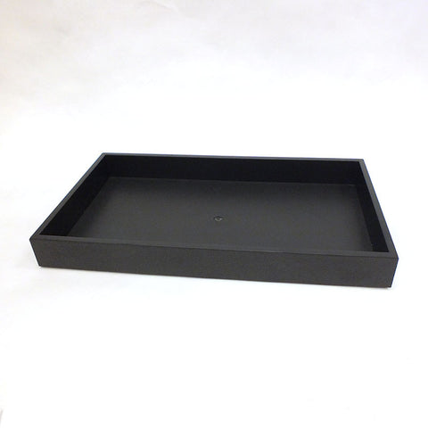 "Black Plastic Tray 14-3/4"" x 8-1/2"" x 1-1/2"""