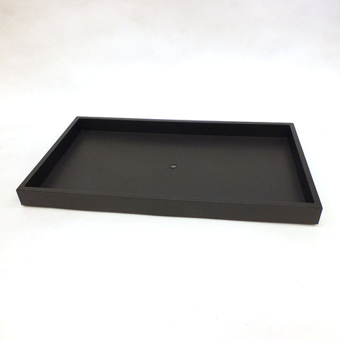 "Black Plastic Tray 14-3/4"" x 8-1/2"" x 1"""