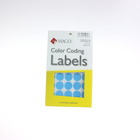 "3/4"" Round Box Labels (11 Colors)"