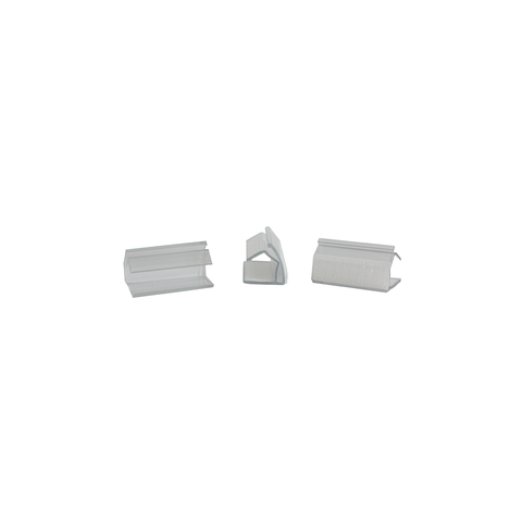 "Clear Plastic Table Skirt Clips w/ Velcro, 3/4"" deep x  3"" long"