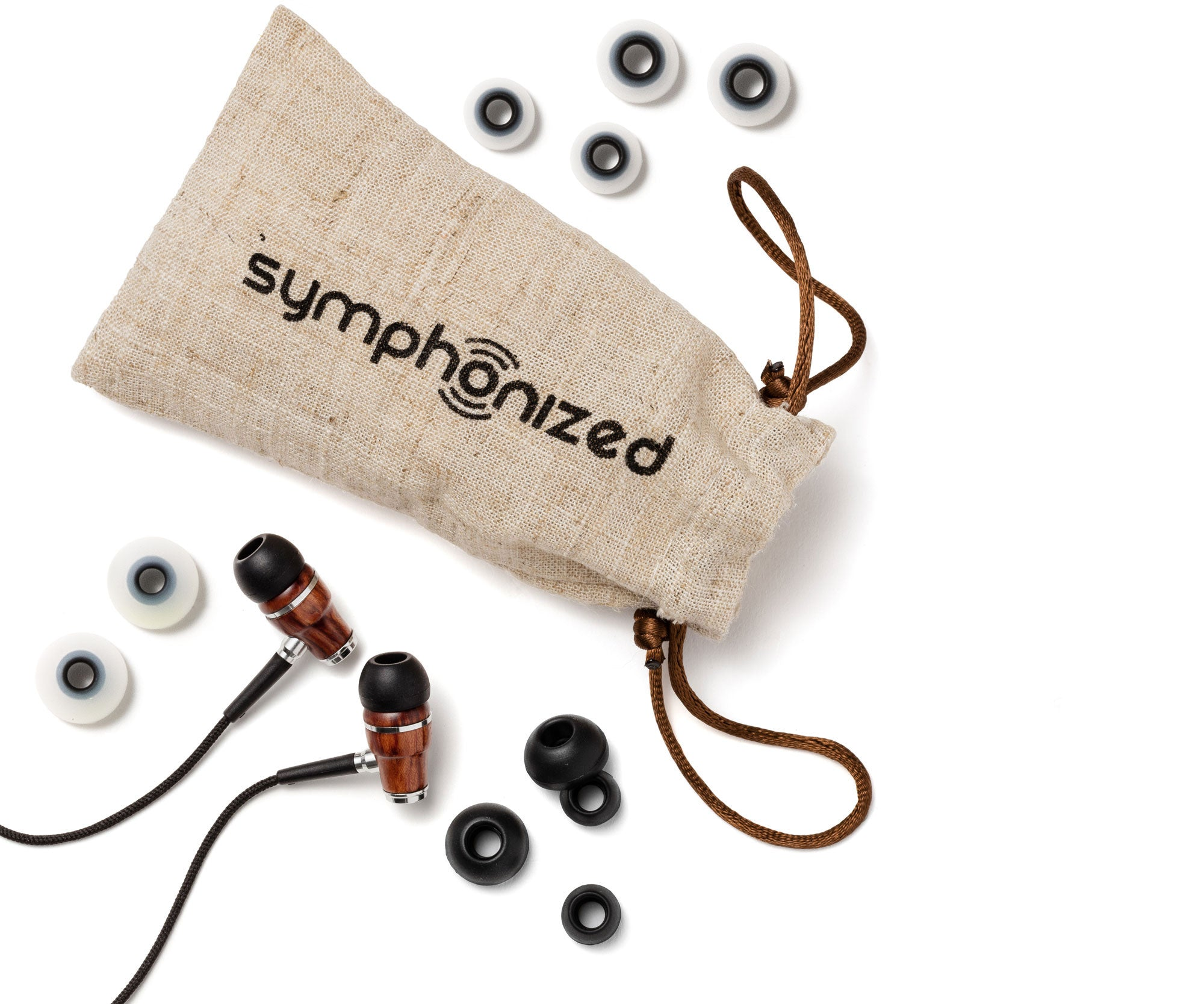 Wood Earbuds Black