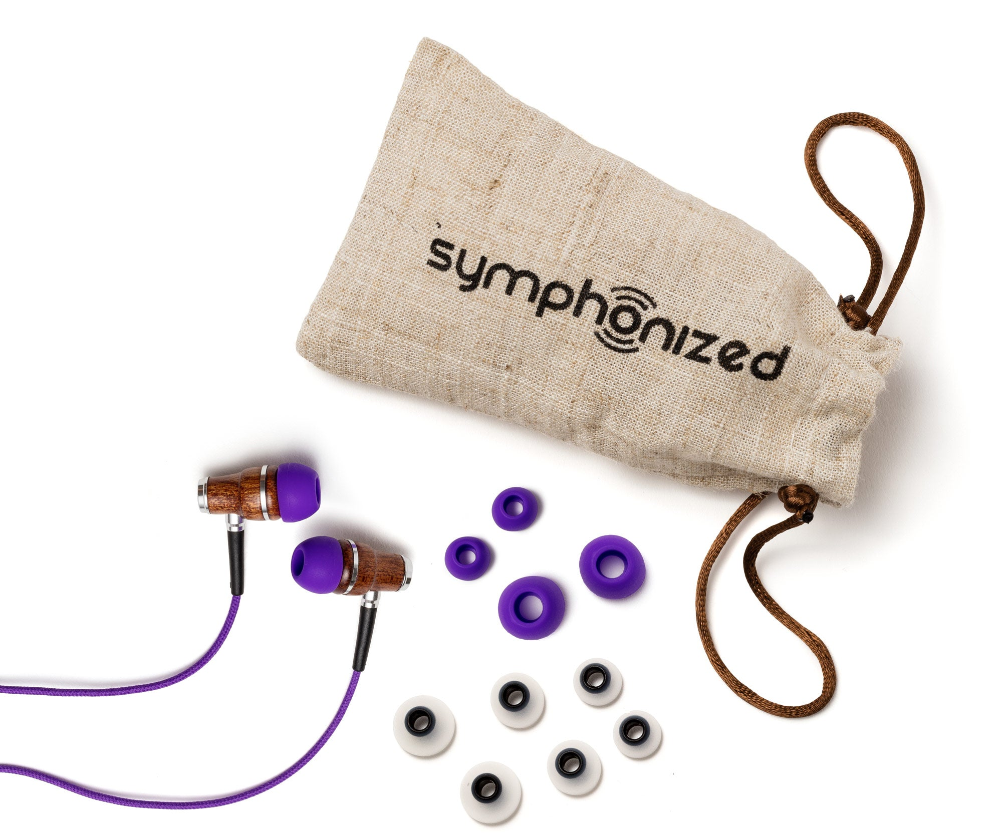 In-Ear Wood Headphones Purples