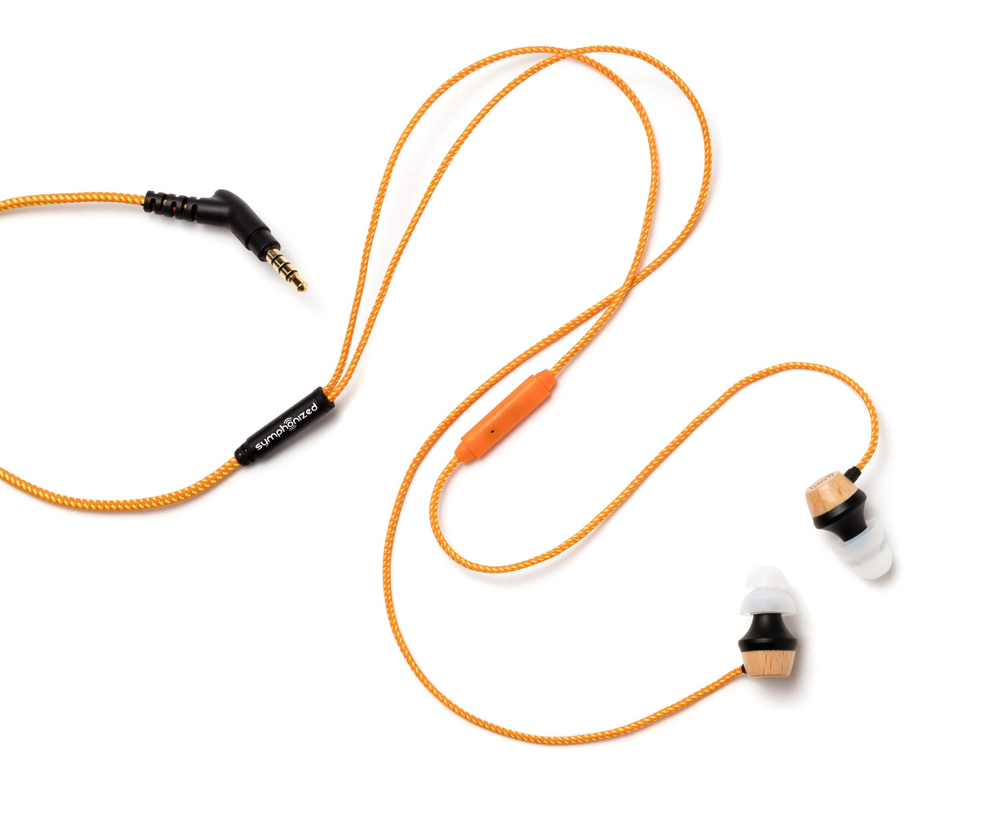 ALN In-Ear Wood Headphones - Orange Stripe