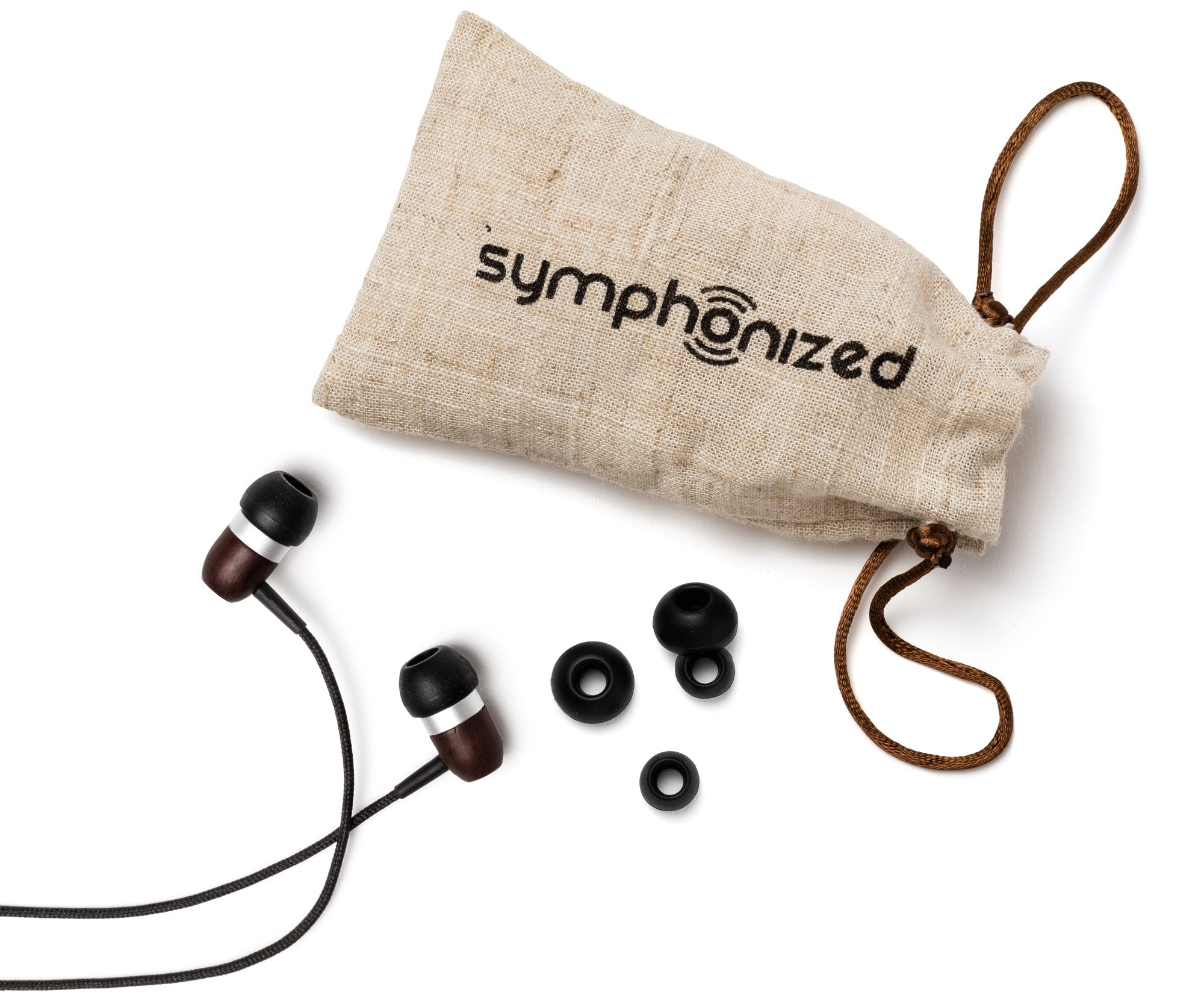 GLXY In-Ear Wood Headphones Ebony