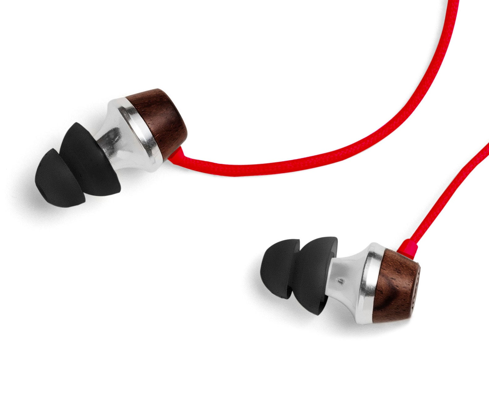 ALN In-Ear Wood Headphones - Red