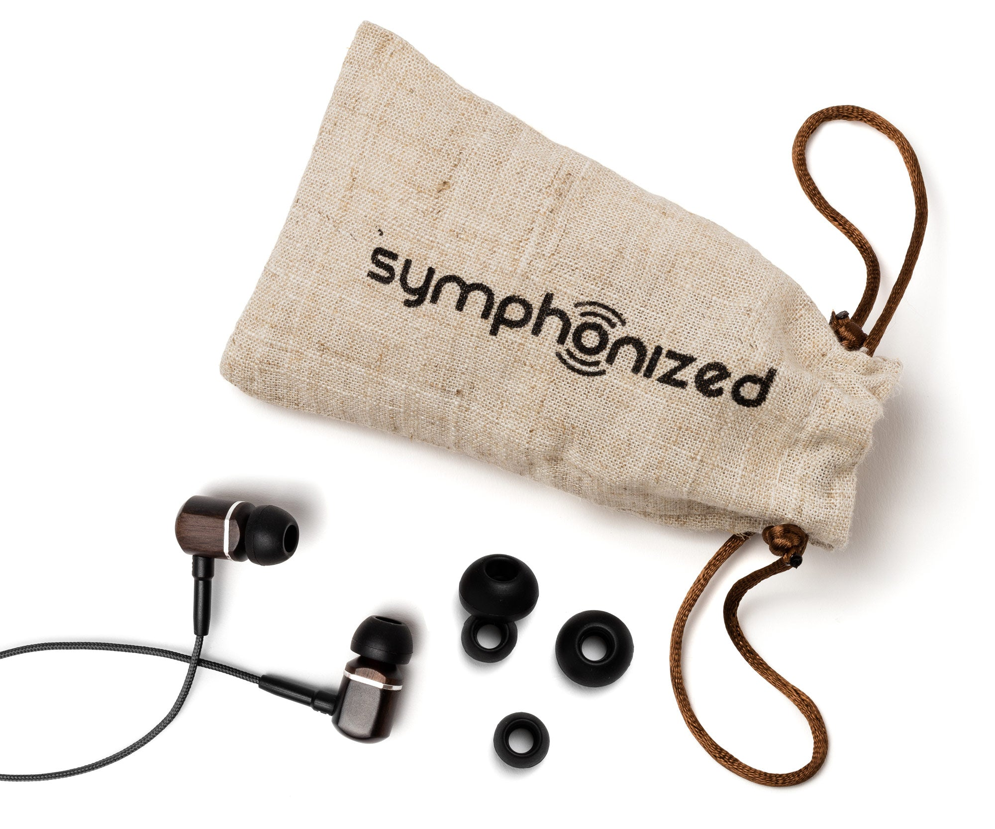 MTRX In-Ear Wood Headphones - Black