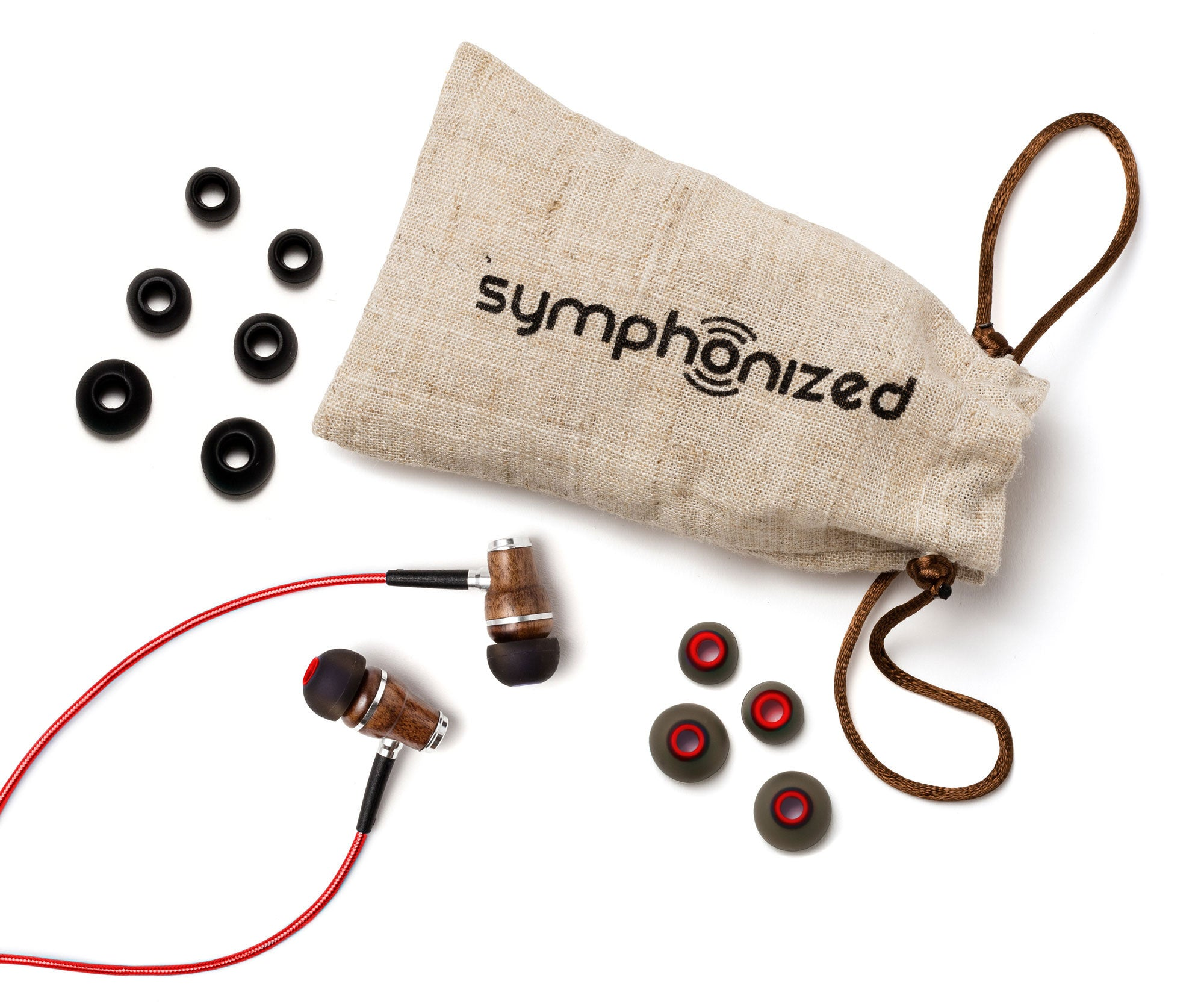 NRG 2.0 In-Ear Wood Headphones Red