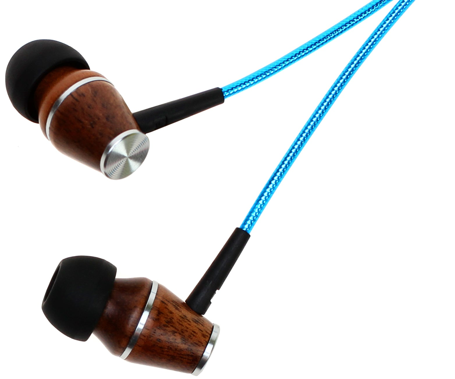 Wood Earbuds Turquoise