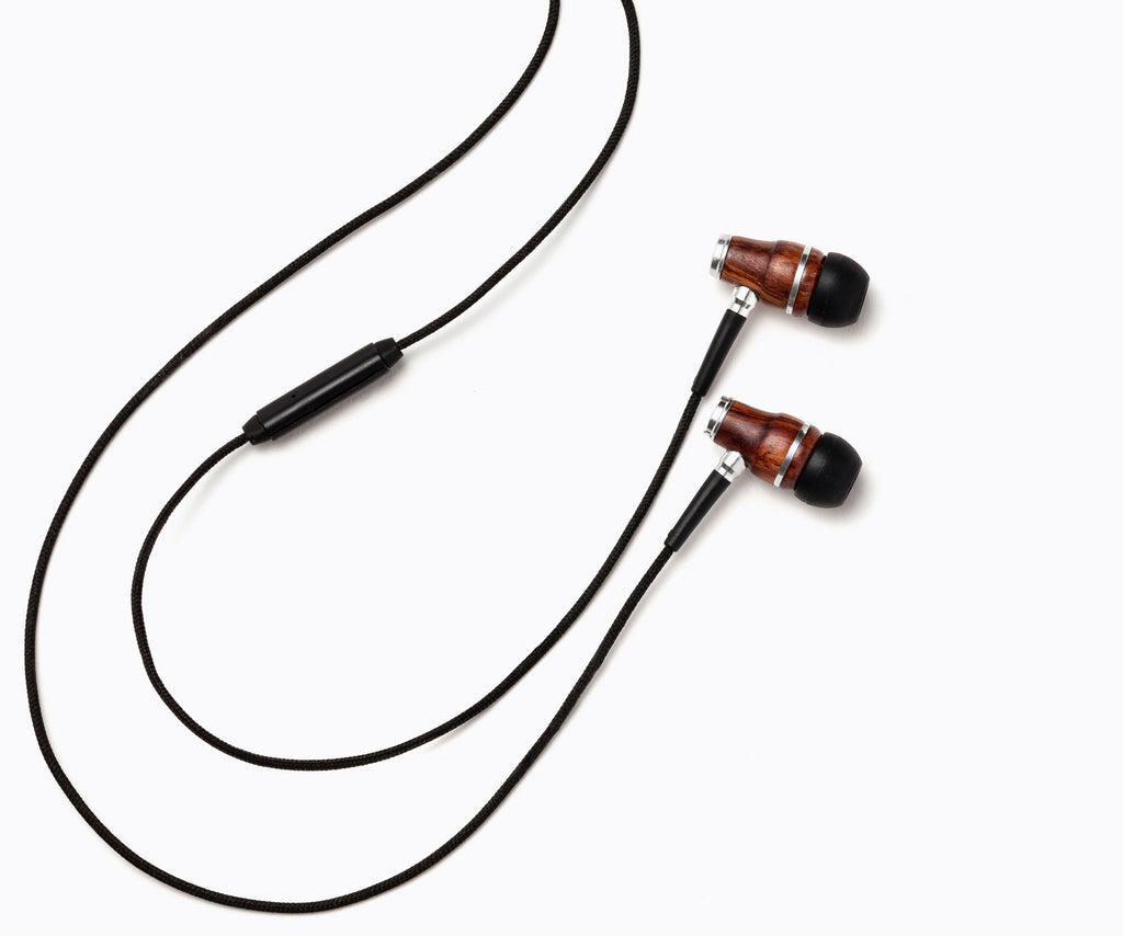 NRG In-Ear Wood Headphones - Black
